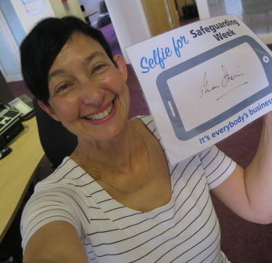 LCH Chief Executive Thea Stein takes the first selfie for Safeguarding Awareness Weeek