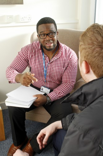 A one to one therapy session at the Leeds IAPT service