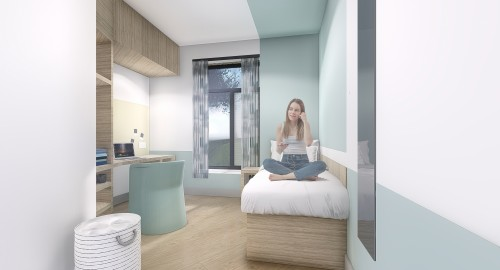 CAMHS unit bedroom visual